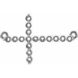 Accented Sideways Cross Necklace or Center