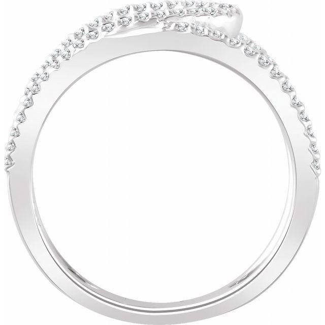 14K White 1/3 CTW Diamond Negative Space Ring