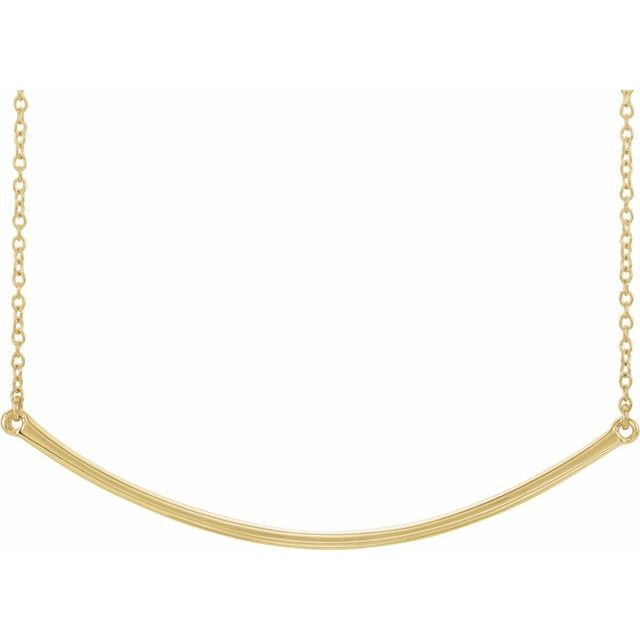 14K Yellow Curved 19.9