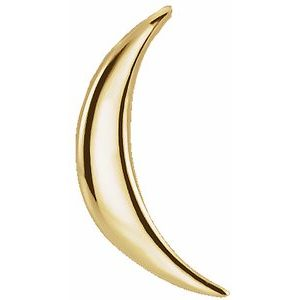 14K Yellow Crescent Pendant