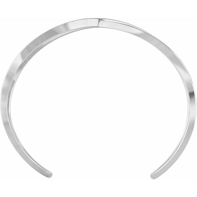 14K White Criss-Cross Cuff 7