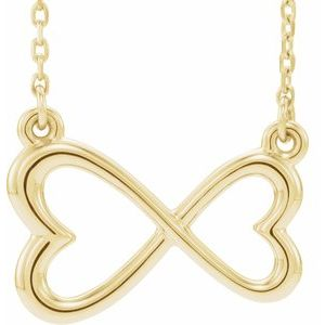 "14K Yellow Infinity-Inspired Heart 16-18"" Necklace"