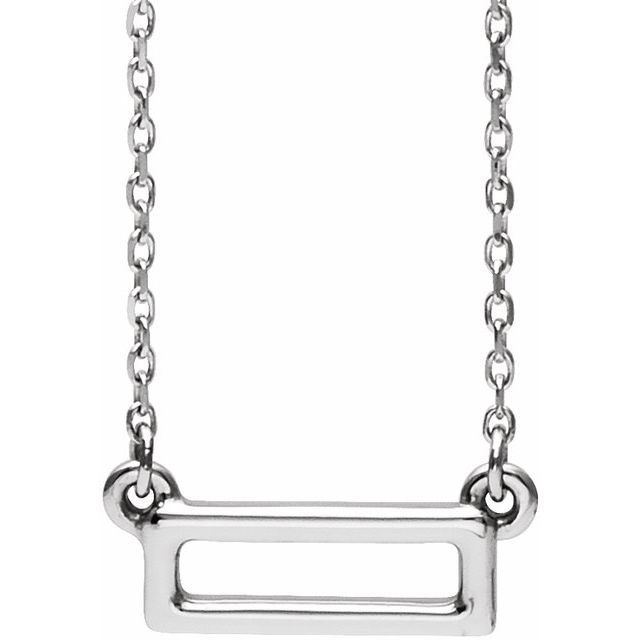 Sterling Silver Rectangle Bar 16-18