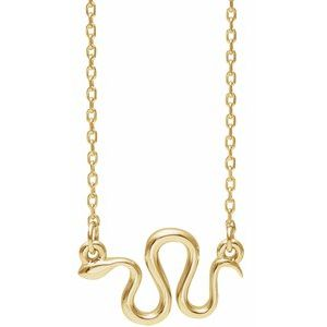 """14K Yellow Snake 16-18"""" Necklace"""