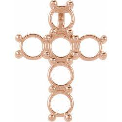 Diamantový Kríž Prívesok alebo Neosadený