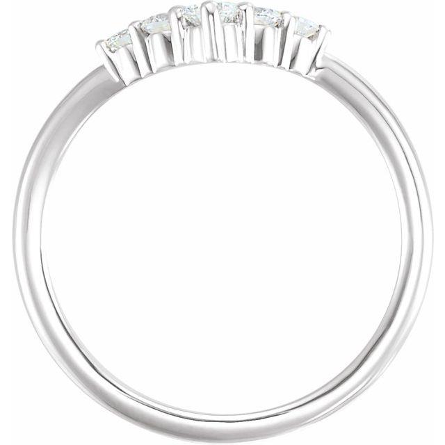 14K White 1/4 CTW Diamond Graduated