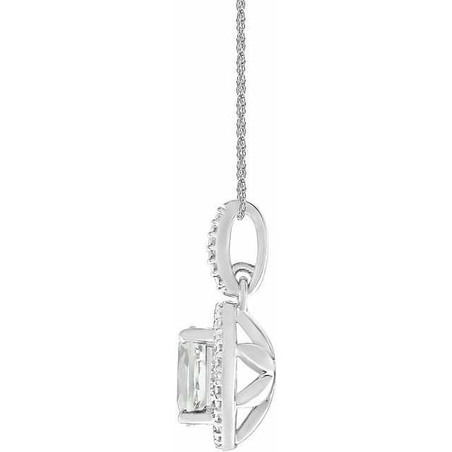 Sterling Silver Lab-Grown White Sapphire & .01 CTW Diamond 18