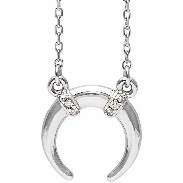 Sterling Silver .03 CTW Diamond 16-18