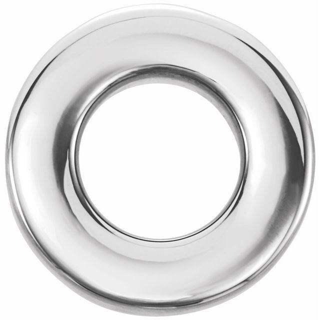 Sterling Silver 10 mm Circle Slide Pendant
