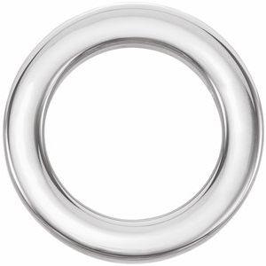 Sterling Silver 15 mm Circle Slide Pendant