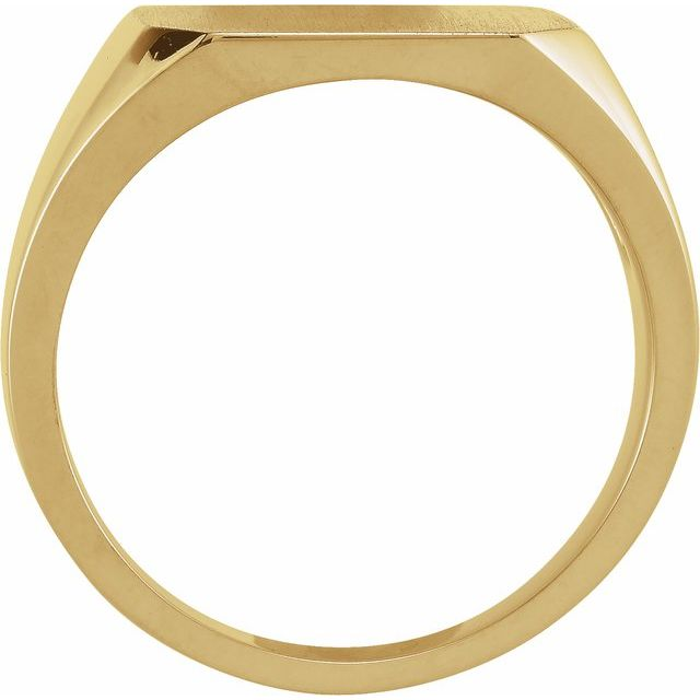 14K Yellow 15 mm Octagon Signet Ring