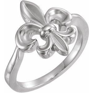 Sterling Silver Fleur-de-lis Ring