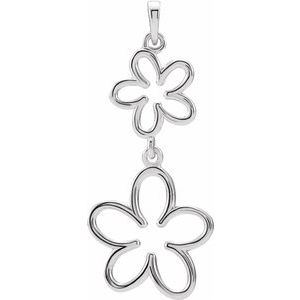 Sterling Silver Flower Design Pendant