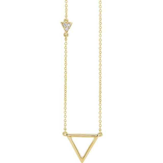 14K Yellow .05 CTW Diamond Triangle 16-18