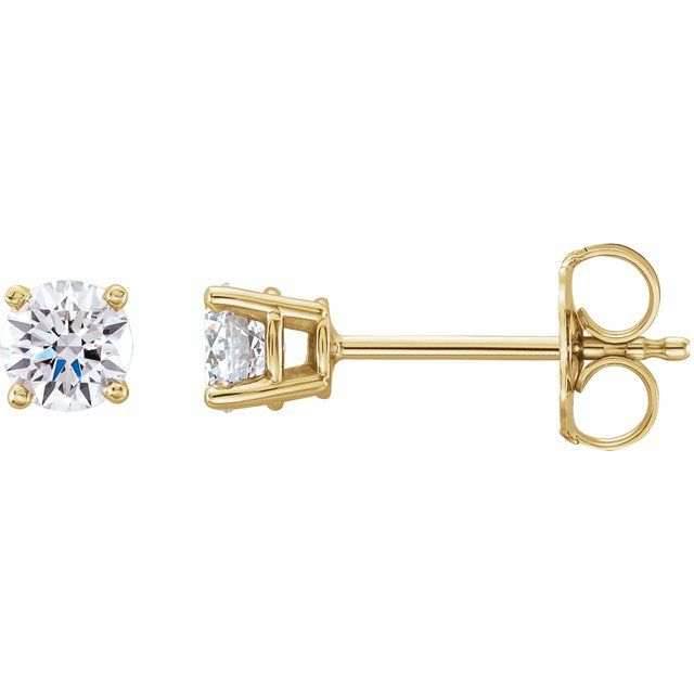 14K Yellow 1/2 CTW Lab-Grown Diamond Stud Earrings