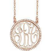 Accented Script Monogram Necklace