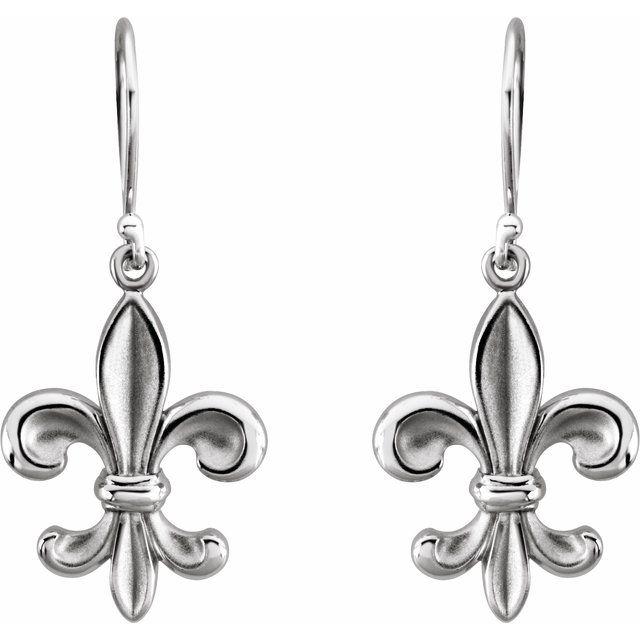 Sterling Silver Fleur-de-lis Earring