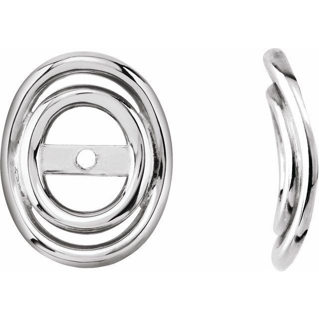 14K White 3.7mm ID Earring Jackets