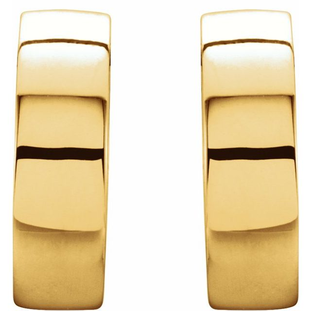14K Yellow & White 14.5 mm Hinged Earrings