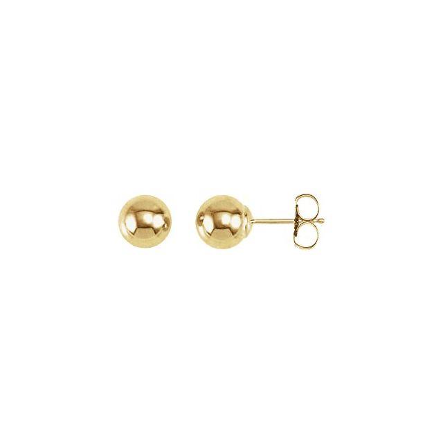 14K Yellow 6 mm Ball Earrings