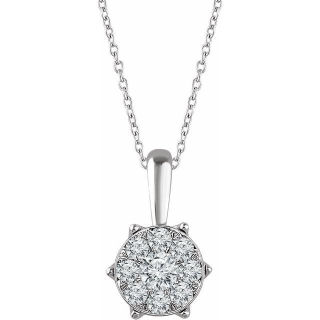 14K White 1/3 CTW Diamond 16-18