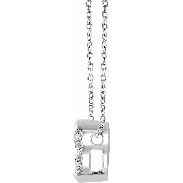 14K White 1/8 CTW Diamond 16-18