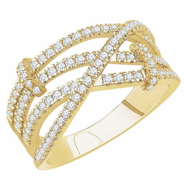 14K Yellow 1/2 CTW Diamond Ring