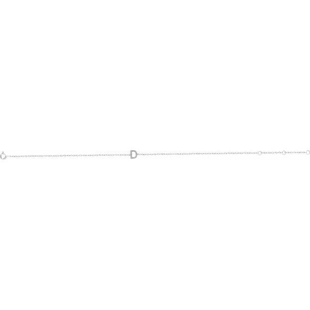 14K White .06 CTW Diamond Initial D 6-7