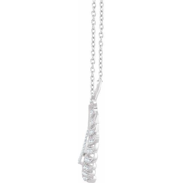 14K White 3/8 CTW Diamond Leaf 16-18