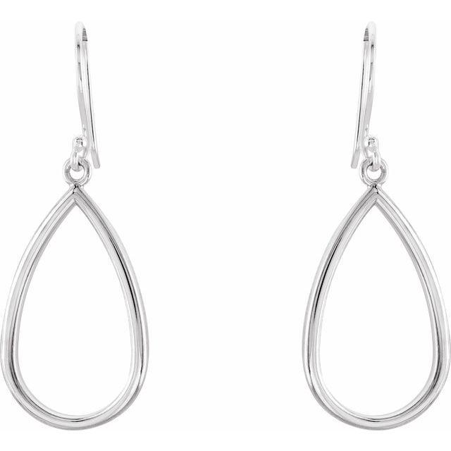 Sterling Silver Pear Shaped Earrings