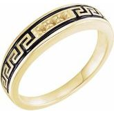 Greek Key Engagement Ring or Band