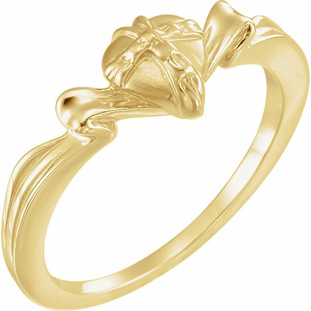 10K Yellow The Gift Wrapped Heart® Ring Size 6