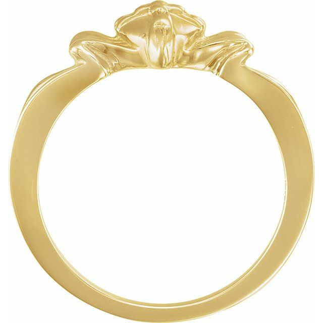 14K Yellow The Gift Wrapped Heart® Ring Size 6
