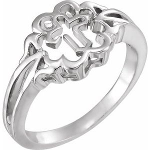 Sterling Silver Cross Chastity Rings® Size 4