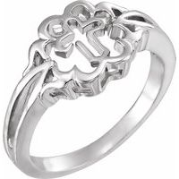 Sterling Silver Cross Chastity Rings® Size 6