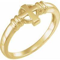 10K Yellow Cross Chastity Ring