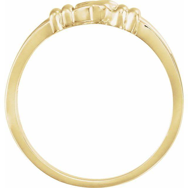 10K Yellow Holy Spirit Chastity Ring Size 4