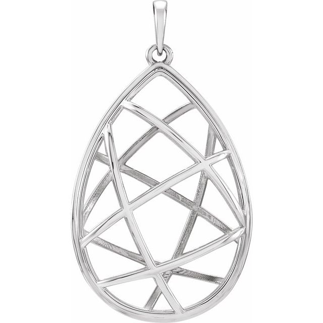 Sterling Silver Nest Design Pendant