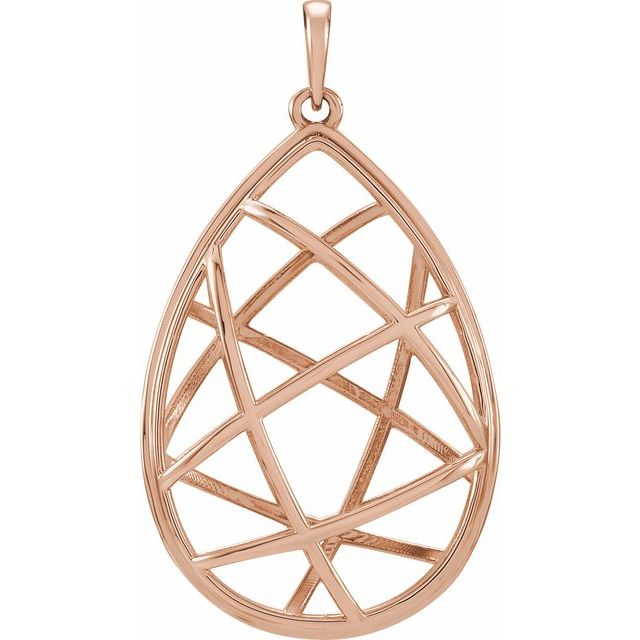 14K Rose Nest Design Pendant