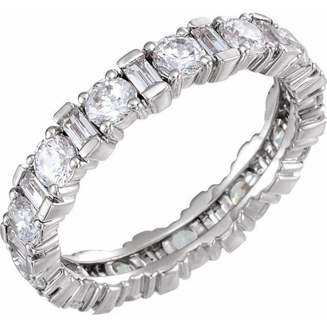 14K White 2 1/6 CTW Diamond Eternity Band