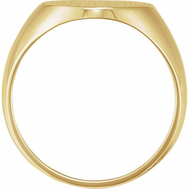 18K Yellow 22x20 mm Oval Signet Ring