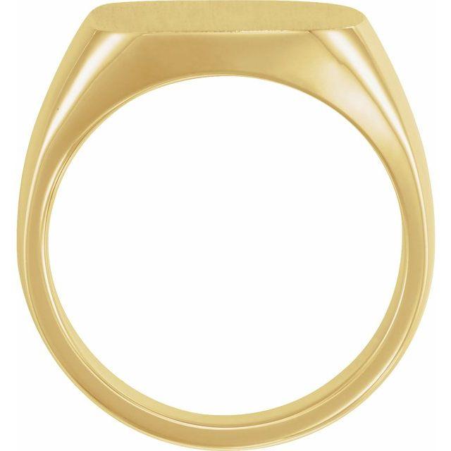 14K Yellow 16x16 mm Square Signet Ring