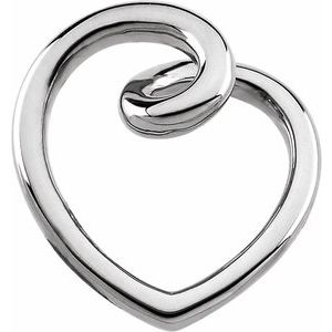 Sterling Silver Fashion Heart Pendant