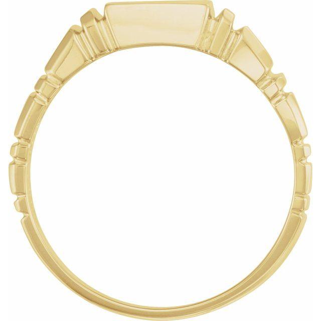 14K Yellow 11 mm Square Signet Ring