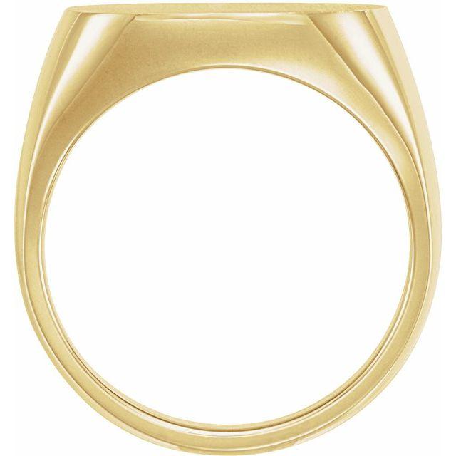 10K Yellow 18 mm Square Signet Ring