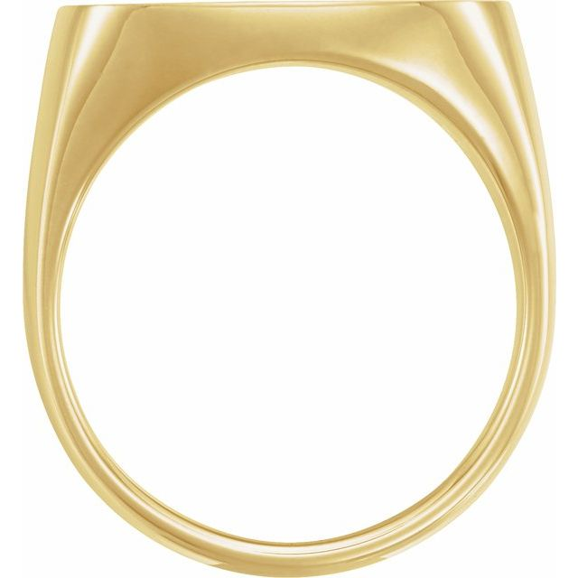 14K Yellow 20x20 mm Square Signet Ring