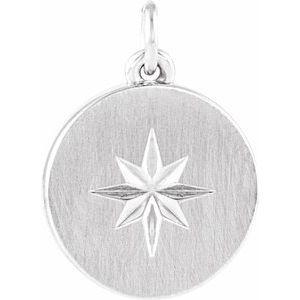 Sterling Silver Starburst Disc Pendant