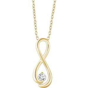 "14K Yellow 1/6 CTW Diamond Infinity-Inspired 16-18"" Necklace"
