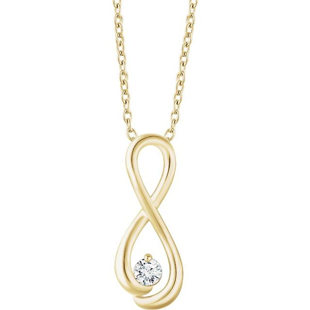 14K Yellow 1/6 CTW Diamond Infinity-Inspired 16-18