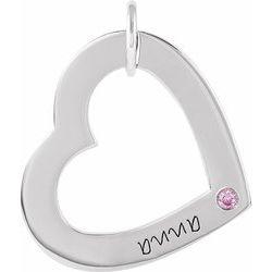 Posh Mommy® Engravable Small Heart Pendant